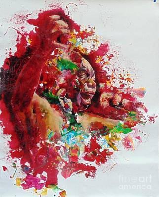 Nina Simone Art Print by Massimo Chioccia