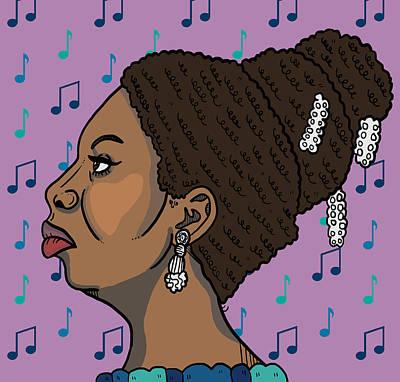 Nina Simone Art Print by Nicole Wilson