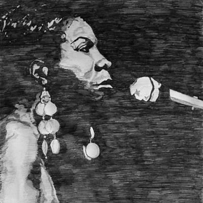 Natural Hair Painting - Nina Simone by Rachel Natalie Rawlins
