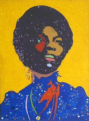 Civil Rights Painting - Nina Simone by Stormm Bradshaw