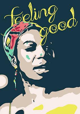 Feeling Digital Art - Nina Simone by Greatom London
