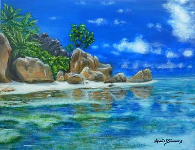 Painting - Nina's Beach by Amelie Simmons