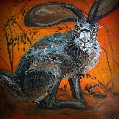 Nina's Rabbit Art Print