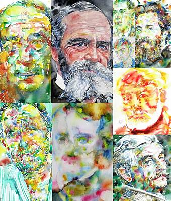 Painting - Nine American Writers by Fabrizio Cassetta