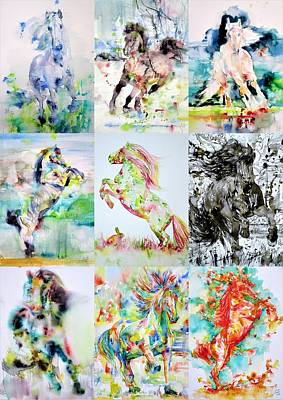 Painting - Nine Horses by Fabrizio Cassetta