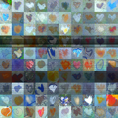 Grid Of Heart Photograph - Nine Hundred Series by Boy Sees Hearts