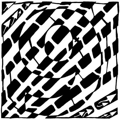 Nine Maze Art Print by Yonatan Frimer Maze Artist