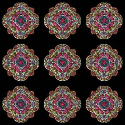 Nine Medallions Art Print by Thomas Smith