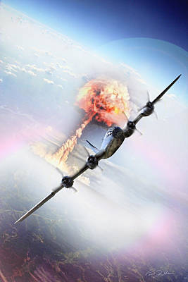 B-29 Digital Art - Nine Miles Down Range by Peter Chilelli