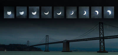 Photograph - Nine Phases Of An Eclipse 1 by Bonnie Follett