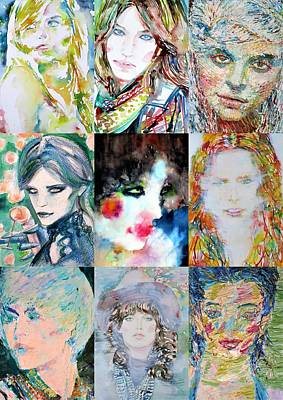 Painting - Nine Portraits Of Women by Fabrizio Cassetta