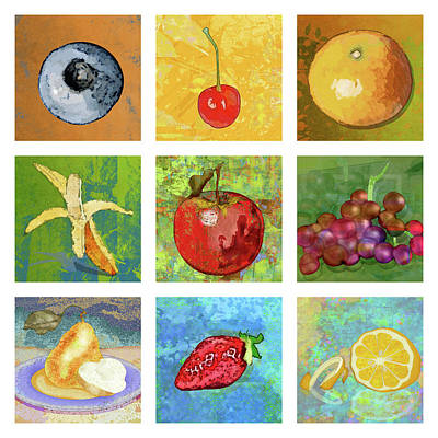 Strawberries Digital Art - Nine Ripe Fruit by Mary Ogle