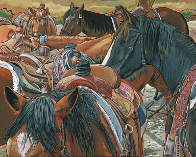 Nine Saddled Art Print by Nadi Spencer