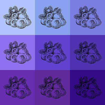 Blueberry Painting - Nine Shades Of Blueberries by Irina Sztukowski