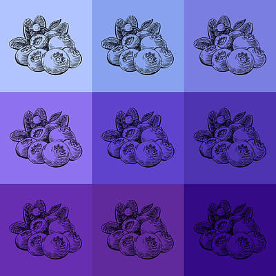 Royalty-Free and Rights-Managed Images - Nine Shades Of Blueberries by Irina Sztukowski
