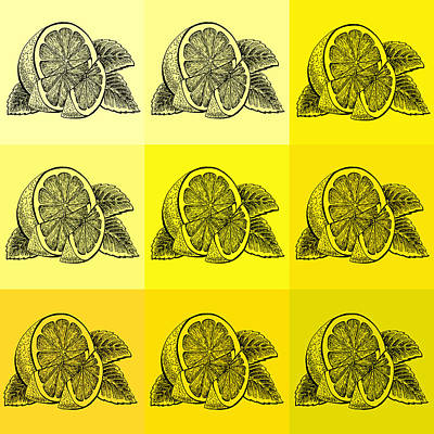 Royalty-Free and Rights-Managed Images - Nine Shades Of Lemon by Irina Sztukowski