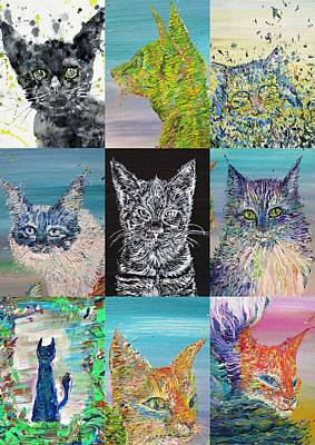 Painting - Nine Times Cats by Fabrizio Cassetta