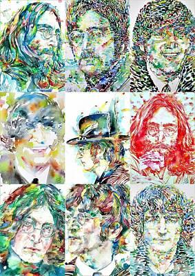 Painting - Nine Times John Lennon by Fabrizio Cassetta
