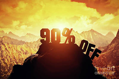 Photograph - Ninety Percent Off Writing On A Mountain Peak. by Michal Bednarek