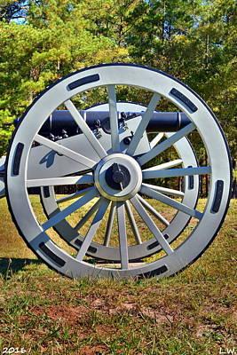 Ninety Six National Historic Site Cannon Wheel Art Print