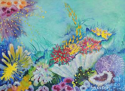 Painting - Ningaloo Reef by Lyn Olsen