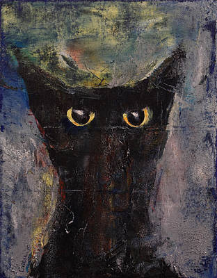 Funny Cat Painting - Ninja Cat by Michael Creese