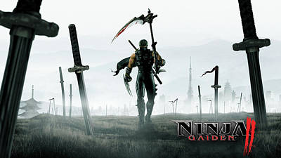 Sports Digital Art - Ninja Gaiden II by Super Lovely