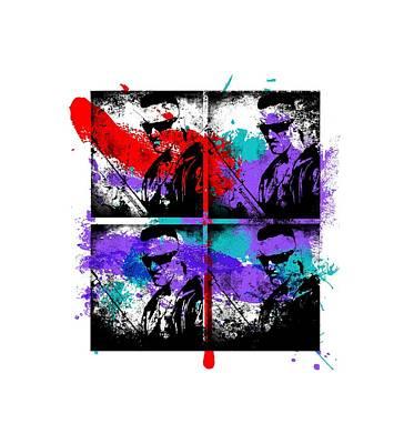 Famous Stencils Digital Art - Ninja Graffiti by Jera Sky
