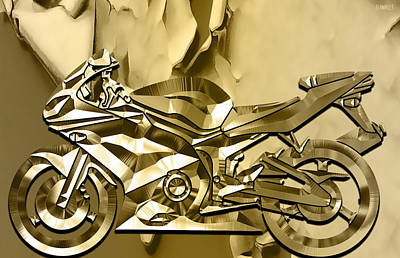 Mixed Media - Ninja Motorcycle Colection by Marvin Blaine