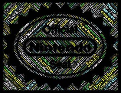 Digital Art - Nintendo Games Names Mosaic by Paul Van Scott