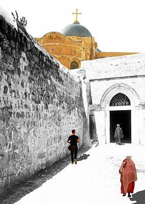 Photograph - Ninth Station Coptic Church by Munir Alawi