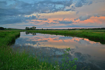 Photograph - Nippersink Creek Summer Sunrise by Ray Mathis