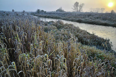 Photograph - Nippersink Creek Sunrise On Frosty Morning by Ray Mathis