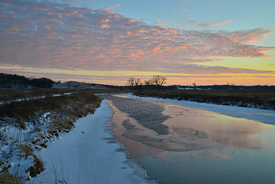 Photograph - Nippersink Creek Winter Sunset Reflection by Ray Mathis