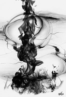 Abstract Purse Painting - Nirvana by Debora Nash