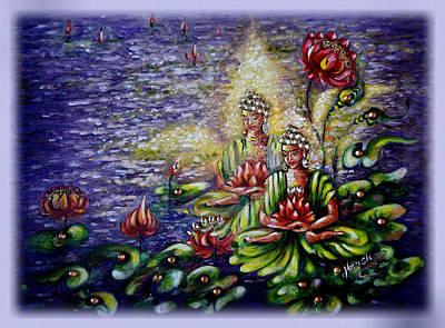 Meditation Painting - Nirvana by Harsh Malik