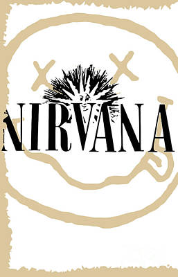 Rock N Roll Digital Art - Nirvana No.06 by Caio Caldas