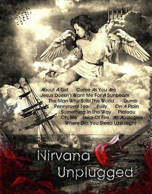 Digital Art - Nirvana Unplugged by Michael Damiani