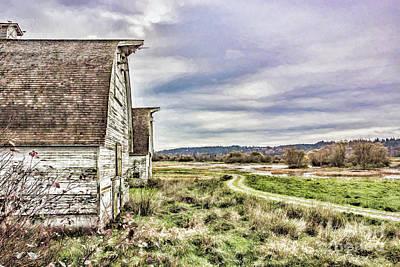 Photograph - Nisqually Barn Road  by Jean OKeeffe Macro Abundance Art