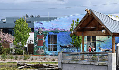 Photograph - Nisqually Mural by Tom Cochran