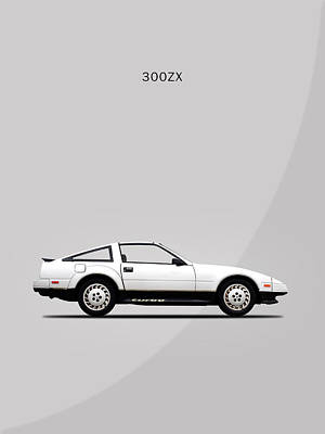 Car Photograph - Nissan 300zx 1984 by Mark Rogan