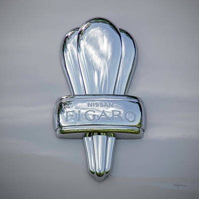 Photograph - Nissan Figaro Car Emblem by Betty Denise