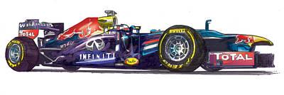 Digital Art - Nissan Formula Onr by Richard Erickson