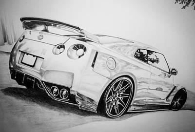 Supercar Drawings Page Of Fine Art America