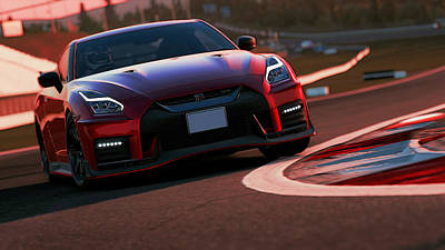 Photograph - Nissan Gtr On Track by Andrea Mazzocchetti