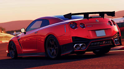 Photograph - Nissan Gtr Rear View by Andrea Mazzocchetti