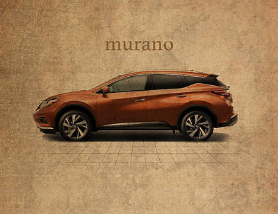 Concepts Mixed Media - Nissan Murano Vintage Concept Art by Design Turnpike