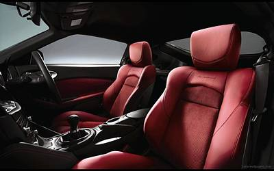 40th Anniversary Digital Art - Nissan New Limited Edition 370z 40th Anniversary Model Interior Wide by F S