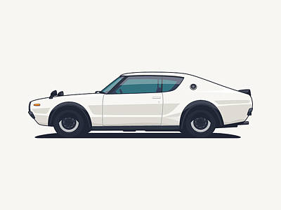 Nissan Skyline Gt-r C110 Side - Plain White Art Print