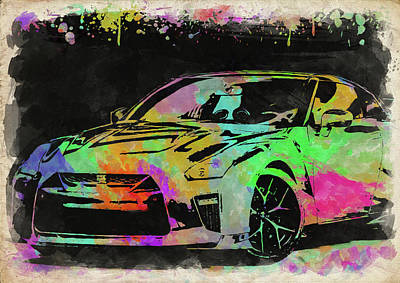 Photograph - Nissan Skyline Gtr Watercolor II by Ricky Barnard
